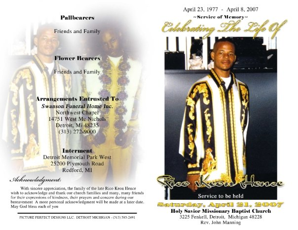 Gallery For Obituary Design